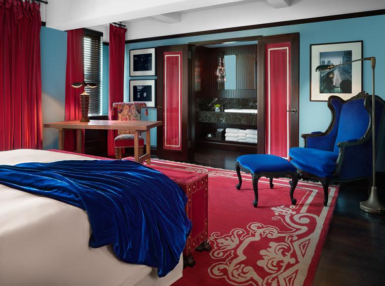 Alle rommene på Gramercy Park Hotel virker romslige.