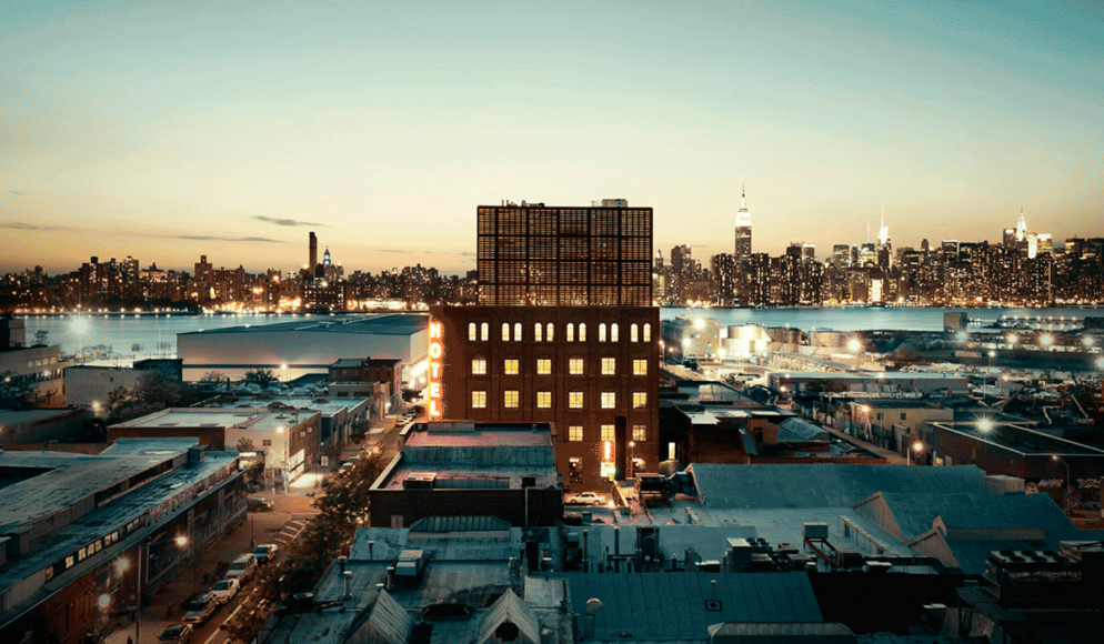 Flott utsikt over til Manhattan